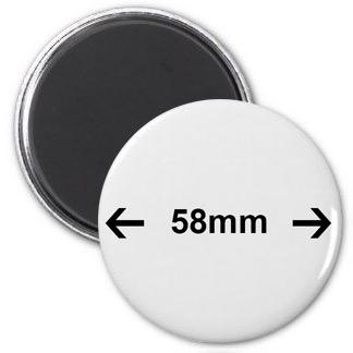 58 mm magnetky spotrebný materiál